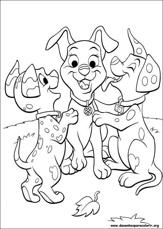 Kleurplaten Puppies Verjaardag 102 Dalmatas Para Colorir