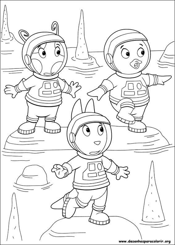 Backyardigans para colorir for Free backyardigans coloring pages