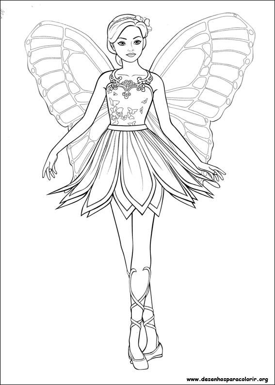 Desenhos Do Barbie Mariposa Para Colorir