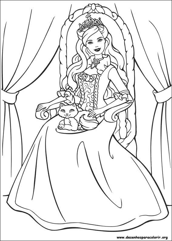 Desenho do barbie em a princesa e a aldeã