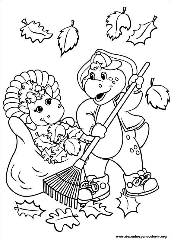 Barney e seus amigos para colorir - L automne dessin ...