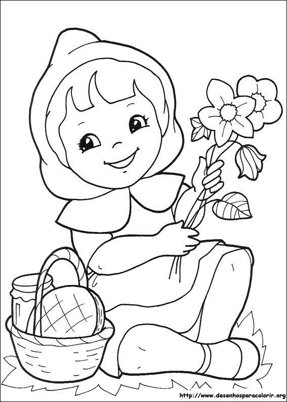 Desenho do Chapeuzinho Vermelho