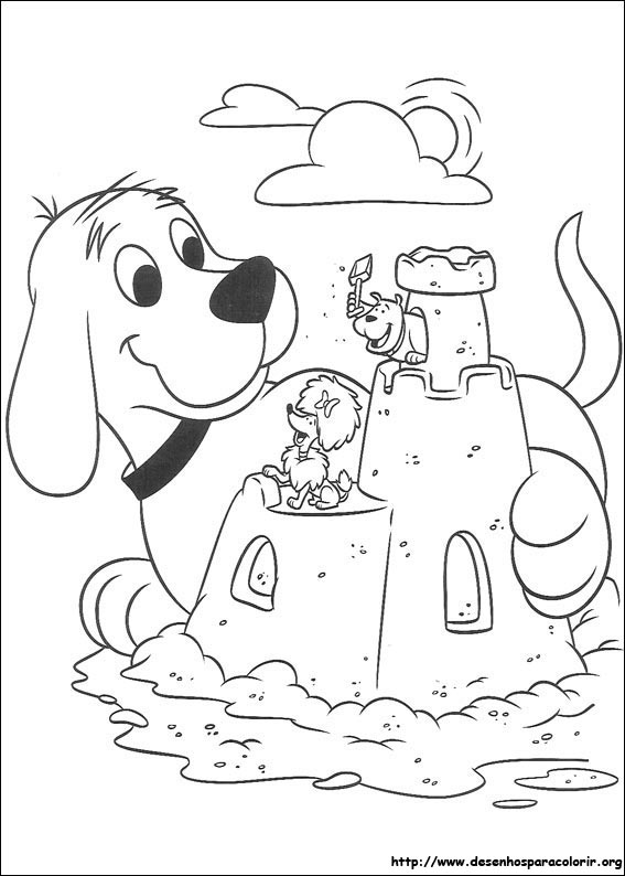 Clifford para colorir for Clifford coloring pages