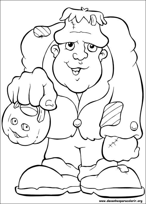 desenhos do dia das bruxas para colorir