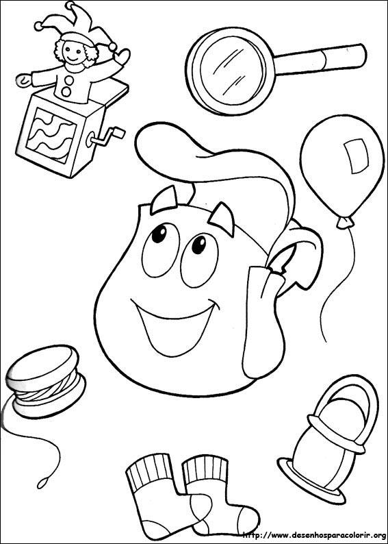 Desenhos do Dora, a aventureira para colorir