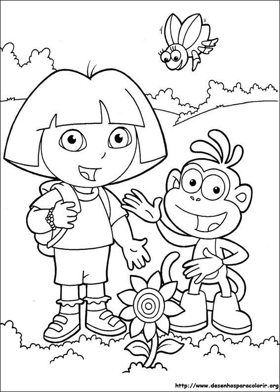 Desenhos Do Dora A Aventureira Para Colorir