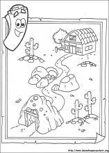 Dora Feliz Cumpleanos Coloring Page