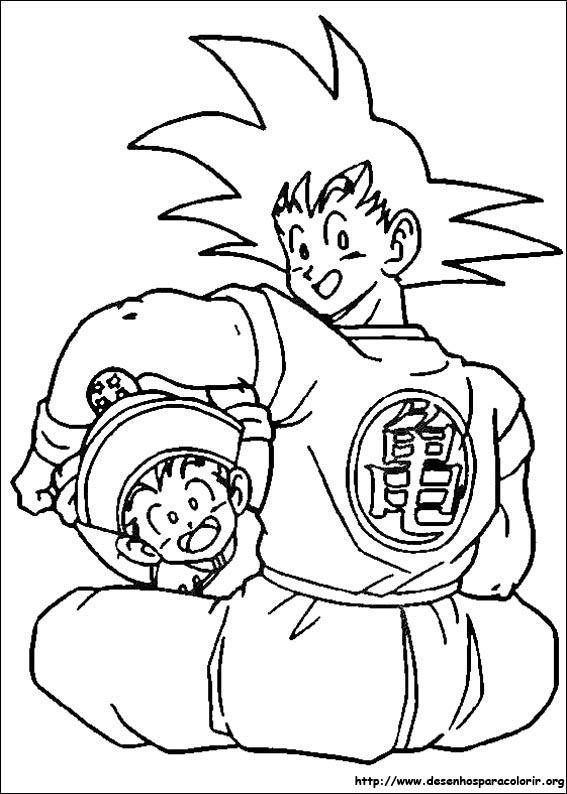 Dragon Ball Zgtaf Manhas E Historias Desenhos Para Colorir
