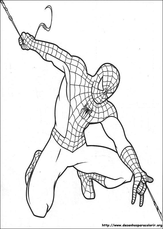 Spider-Man Coloring Pages for Kids