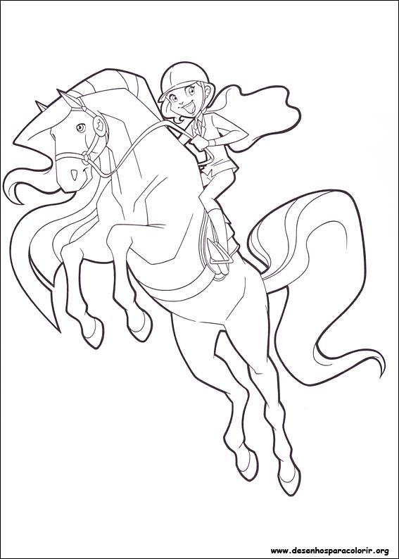 Desenhos do Horseland para colorir