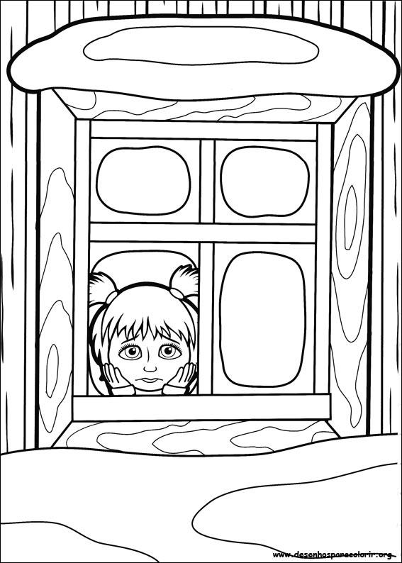 Masha e o urso para colorir for Masha e orso stampa e colora