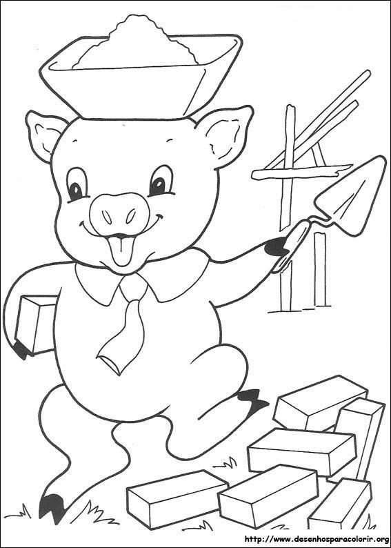 Desenhos Do Os Três Porquinhos Para Colorir