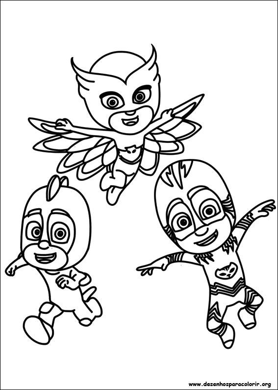 desenhos do pj masks para colorir