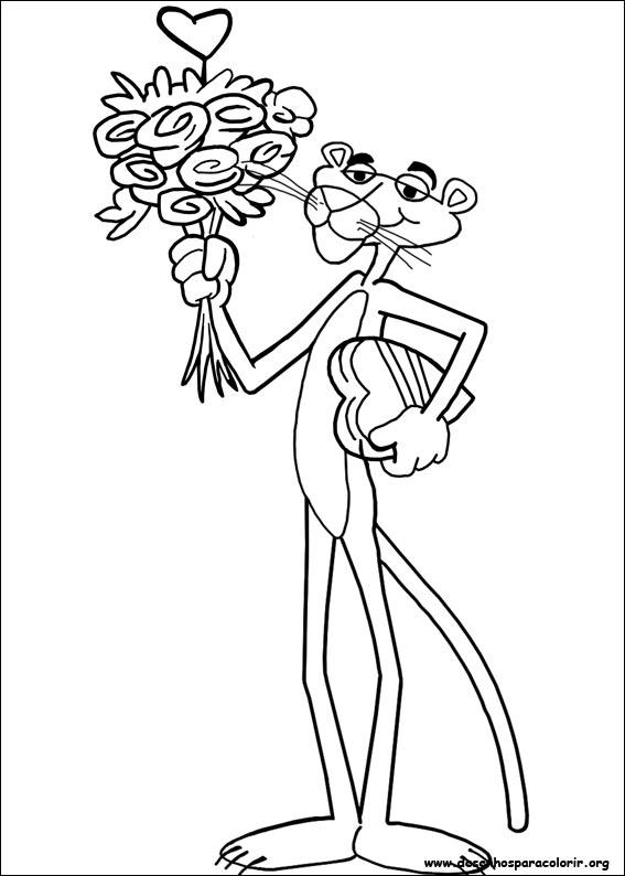 2d7fd8ef11d34f Desenhos do A Pantera Cor-de-Rosa para colorir