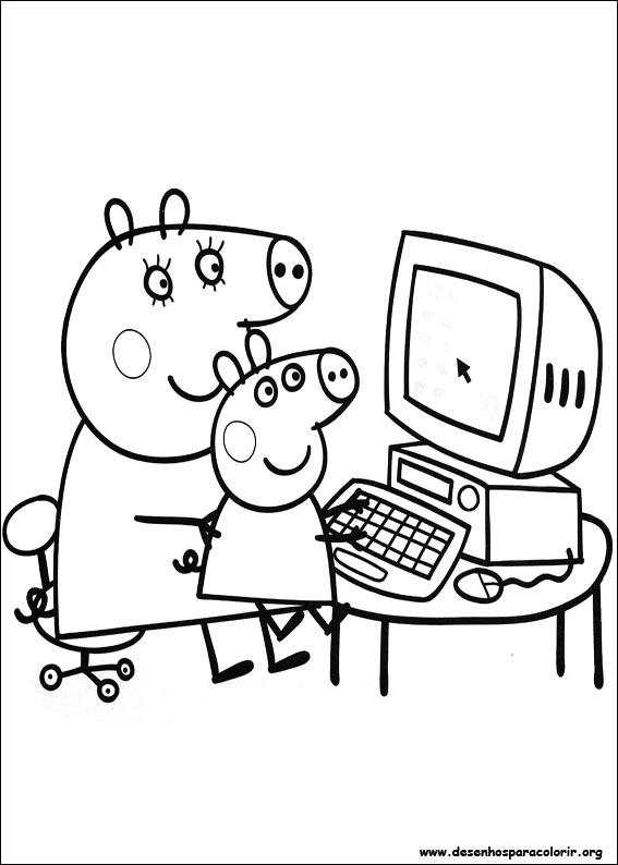 desenho de Peppa Pig, a protagonista para colorir