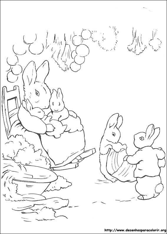 Peter Rabbit para colorir