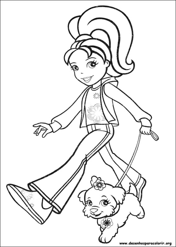 desenhos do polly pocket para colorir