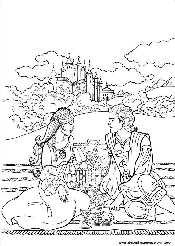 Dibujos de princesas para colorear y pintar