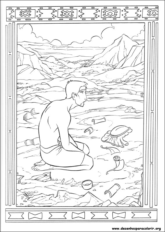 O pr ncipe do egito para colorir for Joseph king of dreams coloring pages