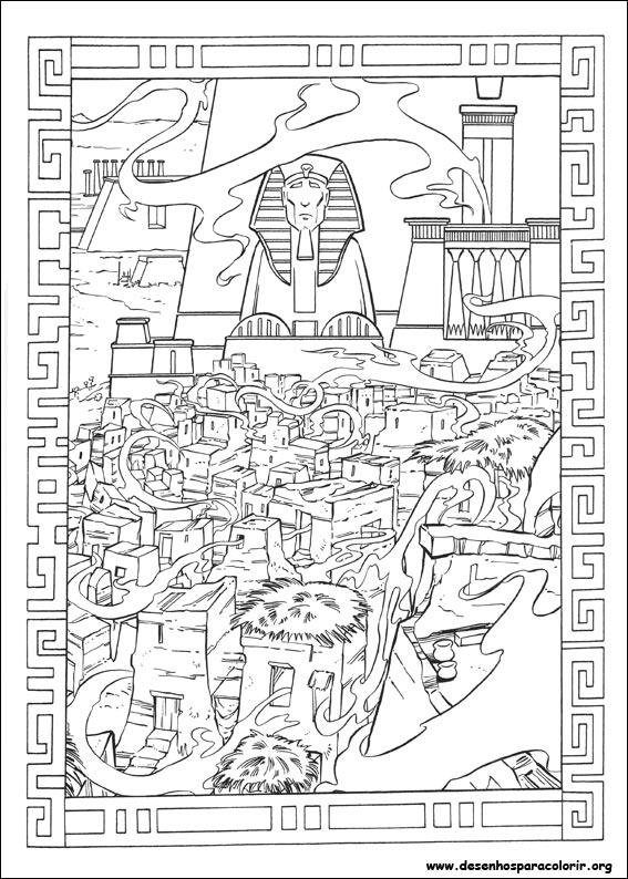 O Príncipe do Egito para colorir