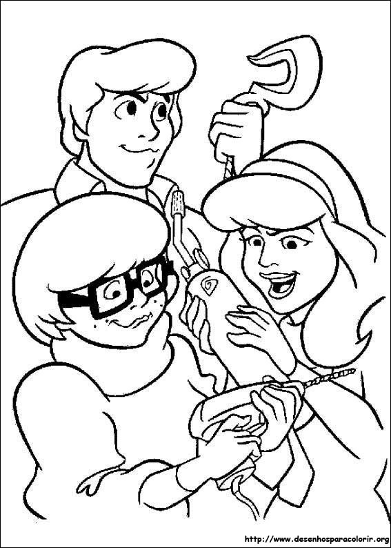 Scooby doo para colorir - Daphne scoubidou ...