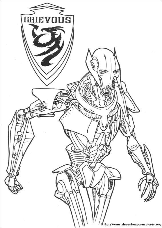 desenhos do star wars para colorir