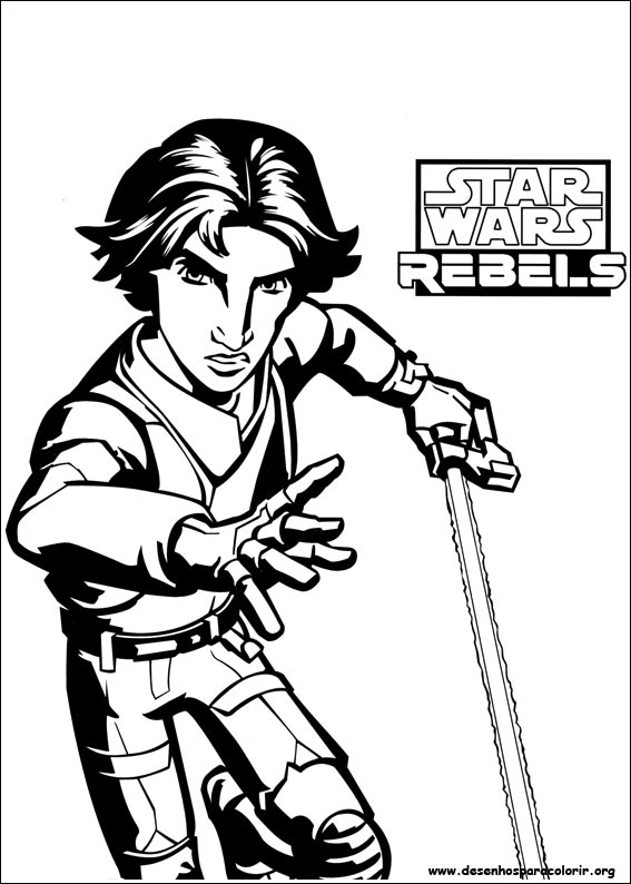 Desenhos do Star Wars Rebels para colorir