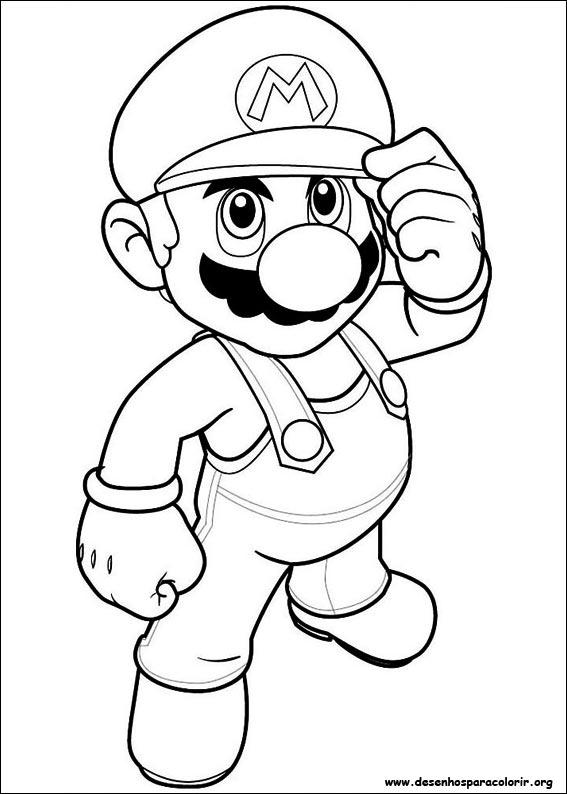 desenhos do super mario bros para colorir
