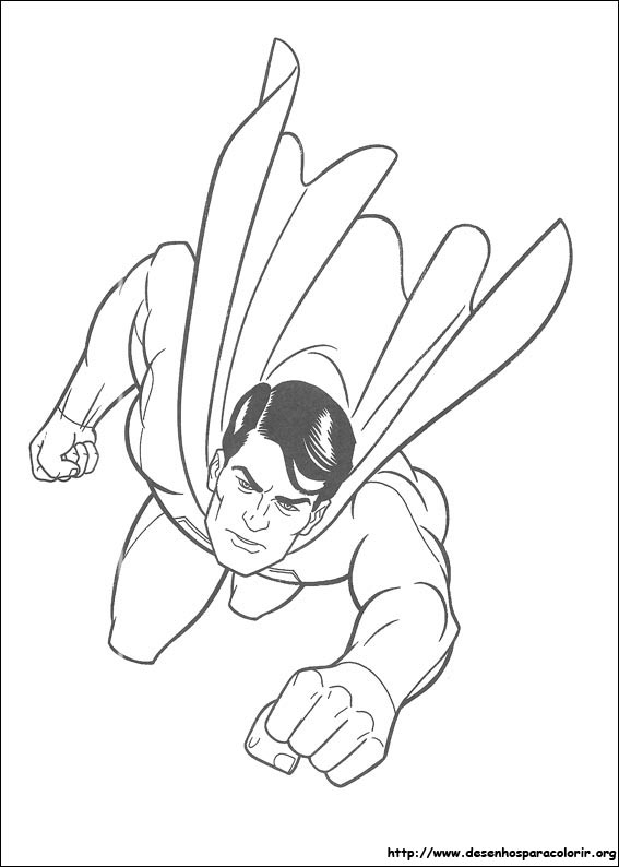 flying superhero drawing sketch coloring page