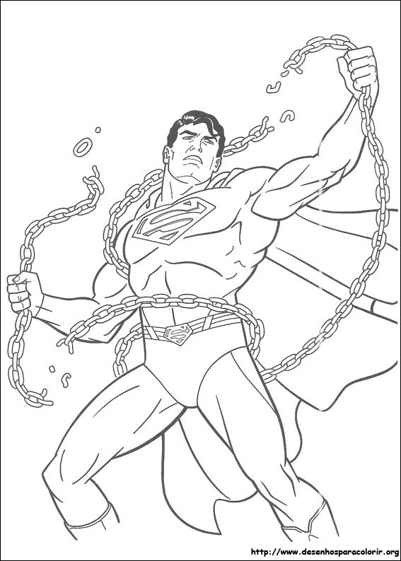Superman para colorir for Super man coloring page