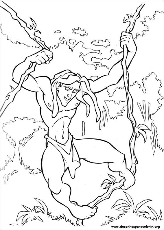 Kleine Tarzan Kleurplaat Tarzan Para Colorir