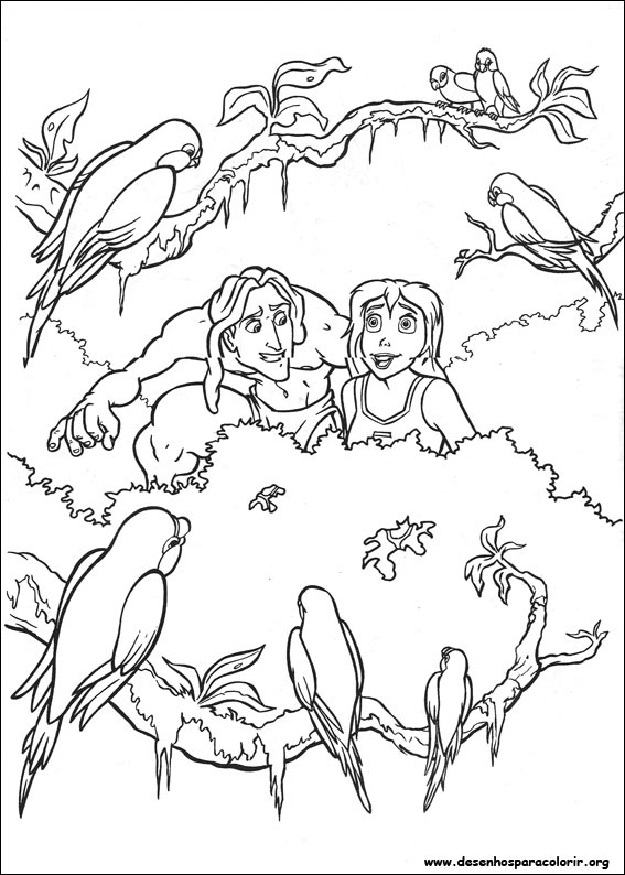 Tarzan para colorir for Tarzan coloring pages
