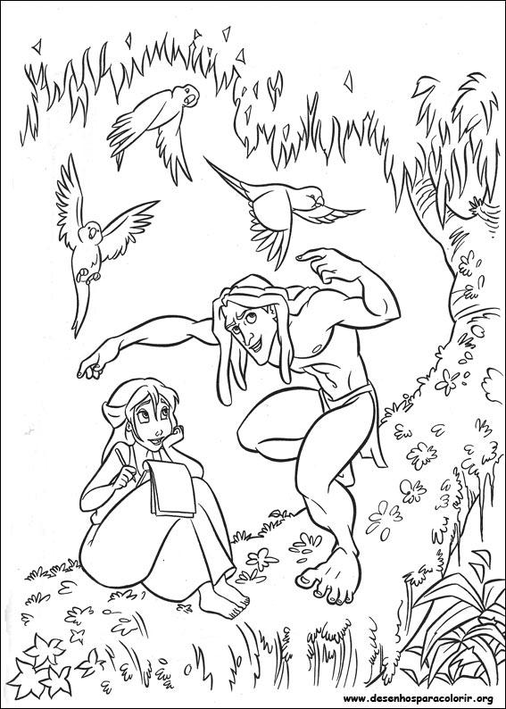 Tarzan para colorir - Tarzan coloriage ...
