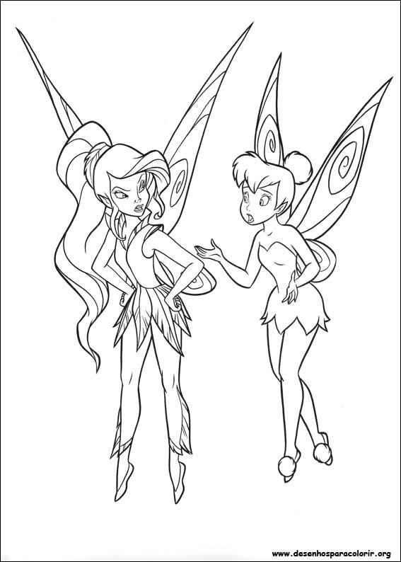 Tinker-bell para colorir
