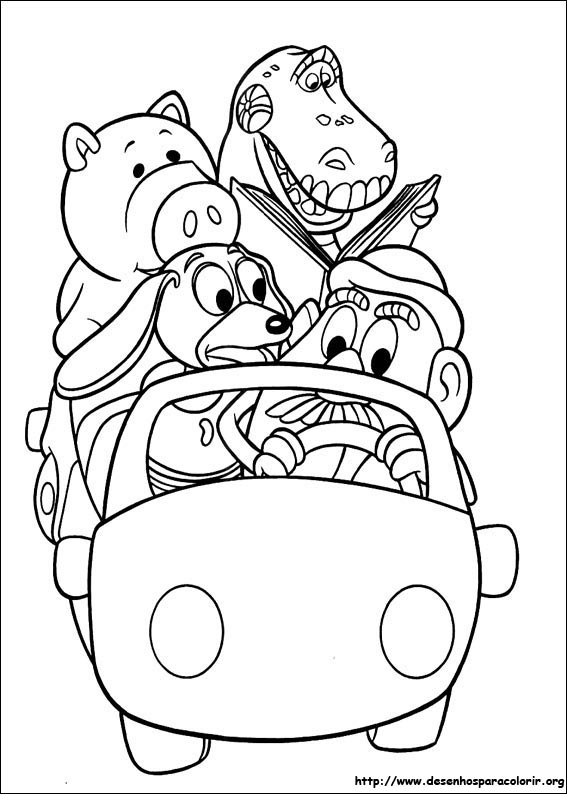 Toy story para colorir for Papel de pared para pintar