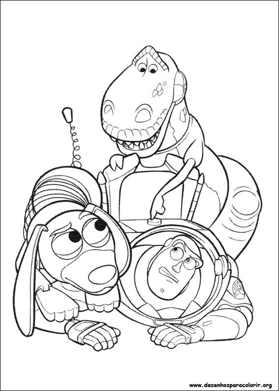 Toy story 3 para colorir - Coloriage pixar ...