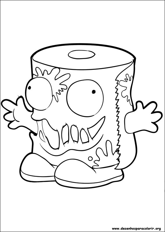 coloring pages trash packs - photo#31