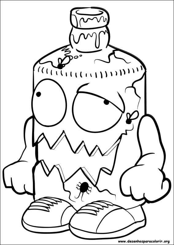 Trash pack para colorir for Trash pack coloring pages to print