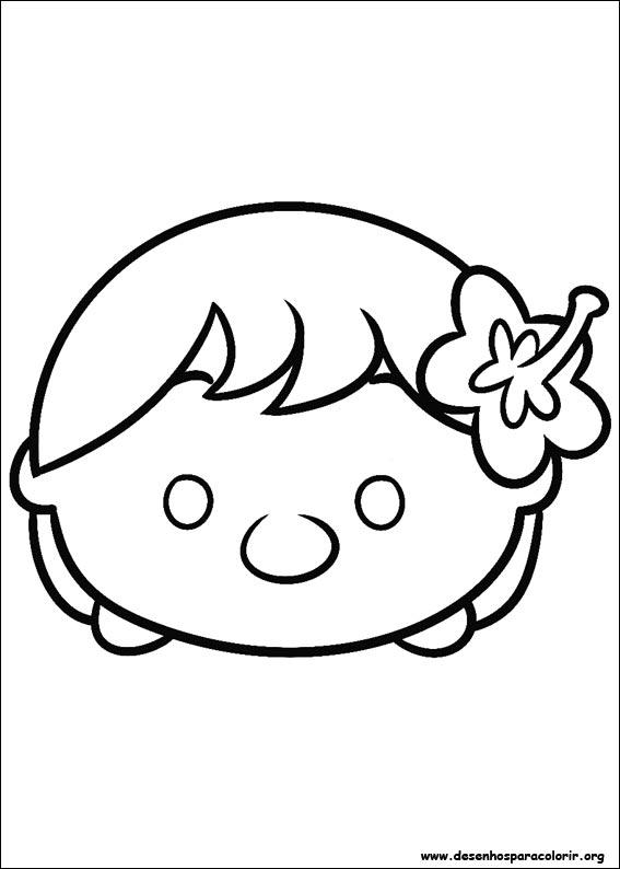 Tsum Tsum para colorir