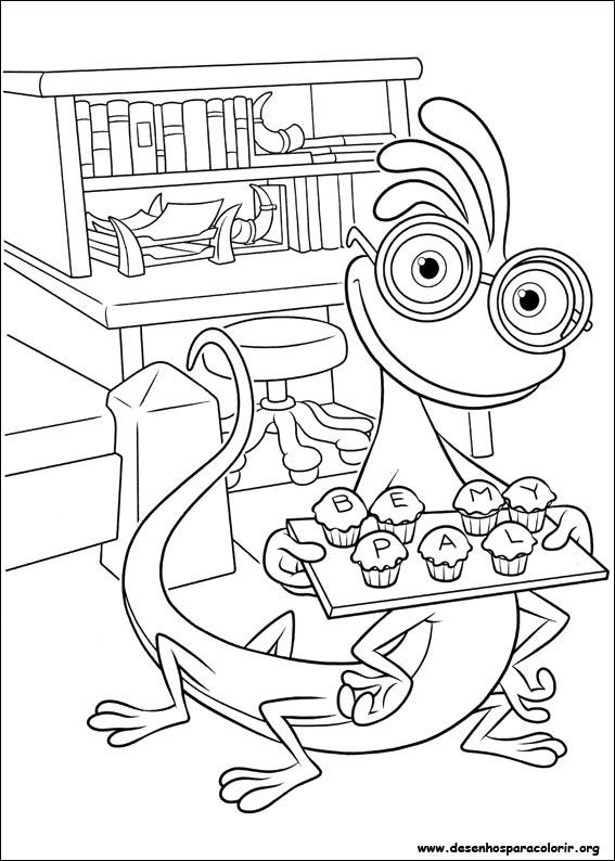 Universidade Monstros Para Colorir Inc Dibujos A Color