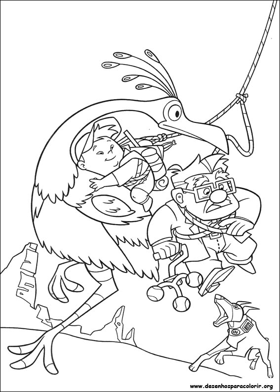 Up Disney Movie Coloring Pages