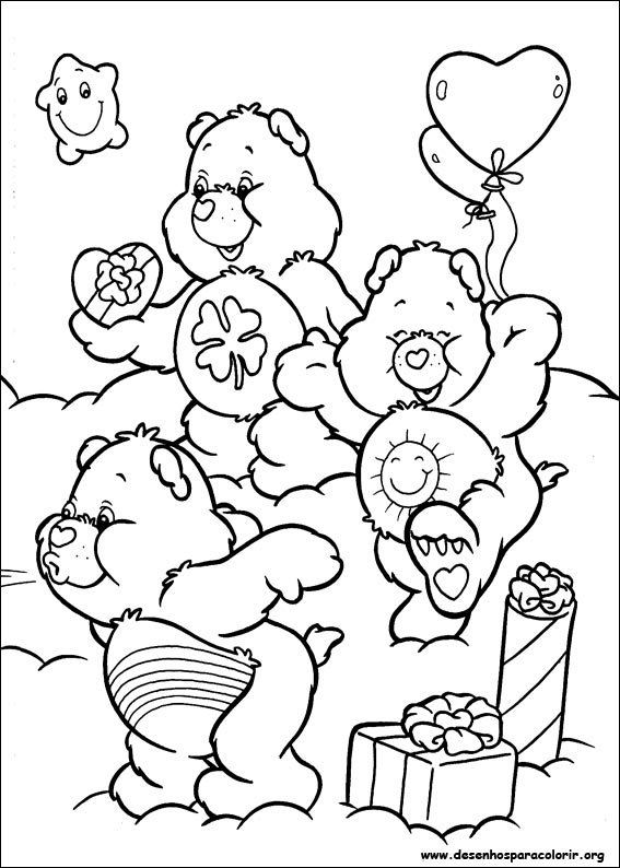 desenhos do ursinhos carinhosos para colorir