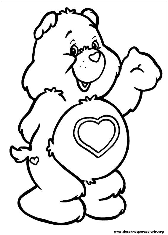 ursinhos carinhosos para colorir