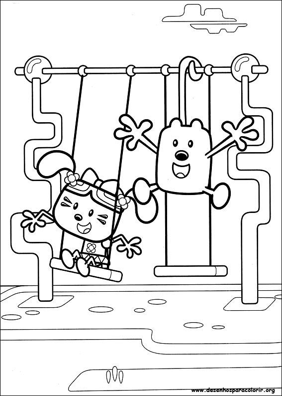 Wow Wow Wubbzy para colorir