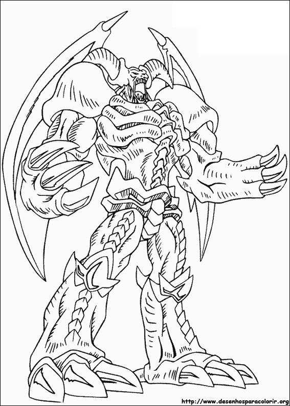 Desenhos do Yu-Gi-Oh para colorir