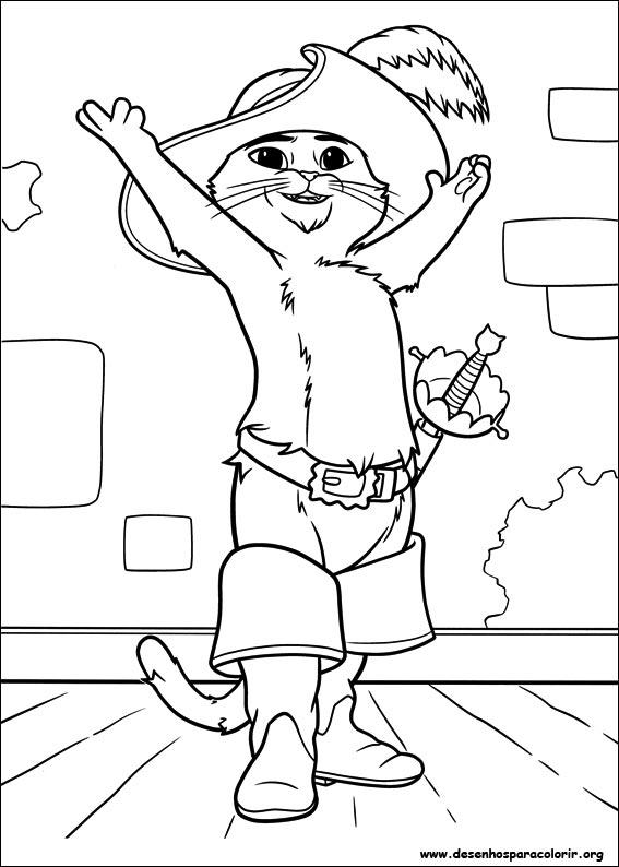 Desenho Do Gato De Botas