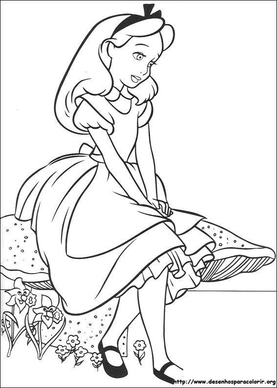 Desenhos Do Alice No Pais Das Maravilhas Para Colorir