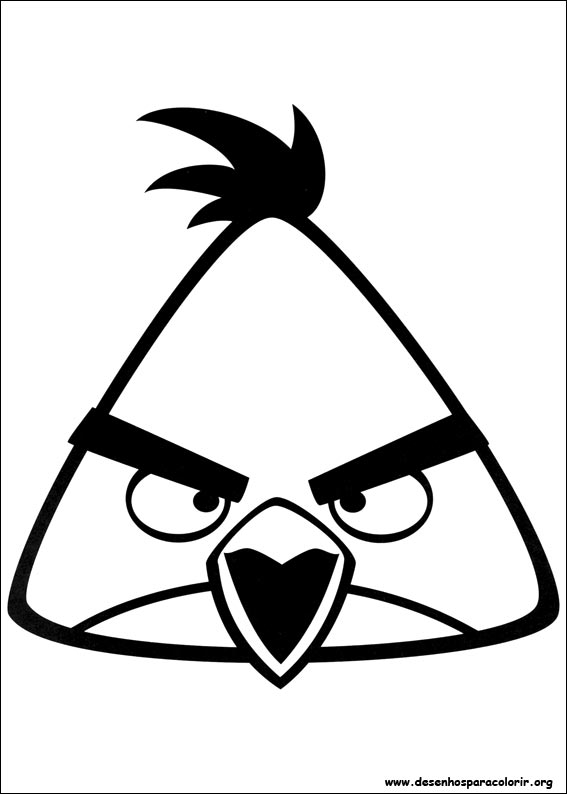 Angry Birds Para Colorir