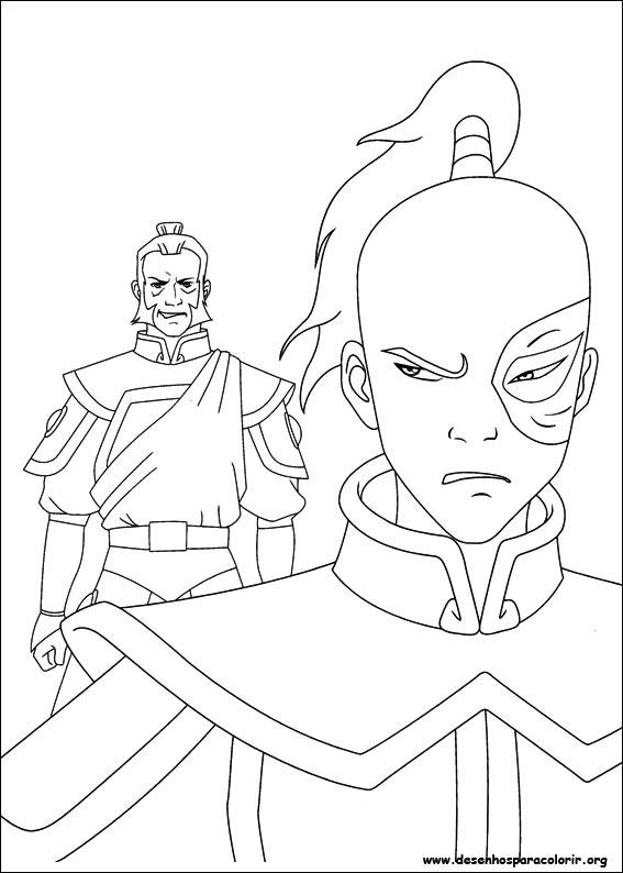 Avatar A Lenda De Aang Para Colorir