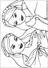 Desenhos Do Barbie Em A Princesa E A Aldea Para Colorir
